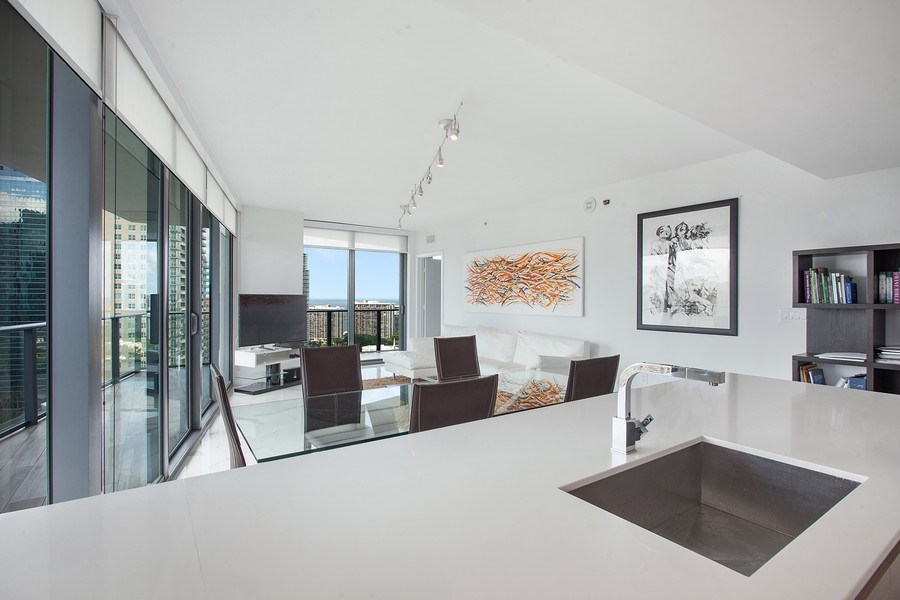 Real Estate Photography - 1300 S. Miami Ave., #2505, Miami, FL, 33130 - Living Room/Dining Room
