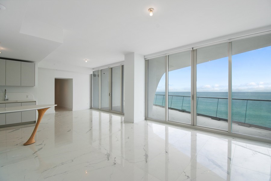 Real Estate Photography - 16901 Collins Ave., #702, Sunny Isles Beach, FL, 33160 - Living Room