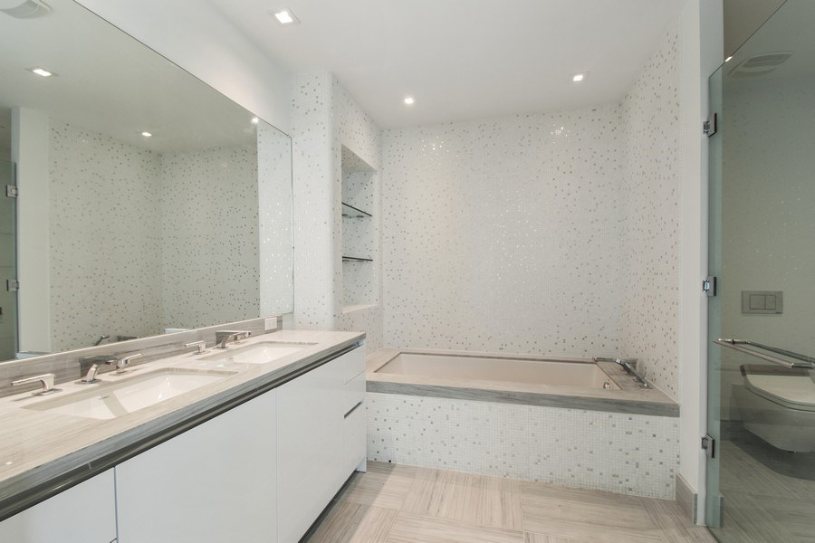 Real Estate Photography - 16901 Collins Ave., #702, Sunny Isles Beach, FL, 33160 - Master Bathroom