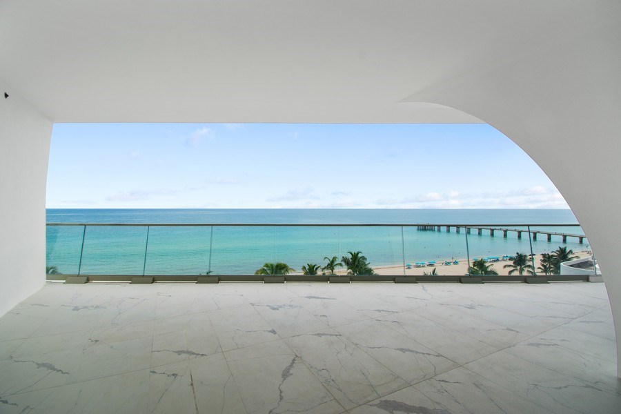 Real Estate Photography - 16901 Collins Ave., #702, Sunny Isles Beach, FL, 33160 - Balcony