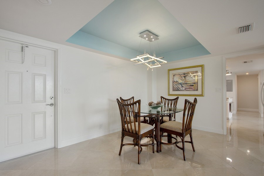 Real Estate Photography - Tiara East Condos333 NE 21st Ave., #310, Deerfield Beach, FL, 33441 - Dining Room