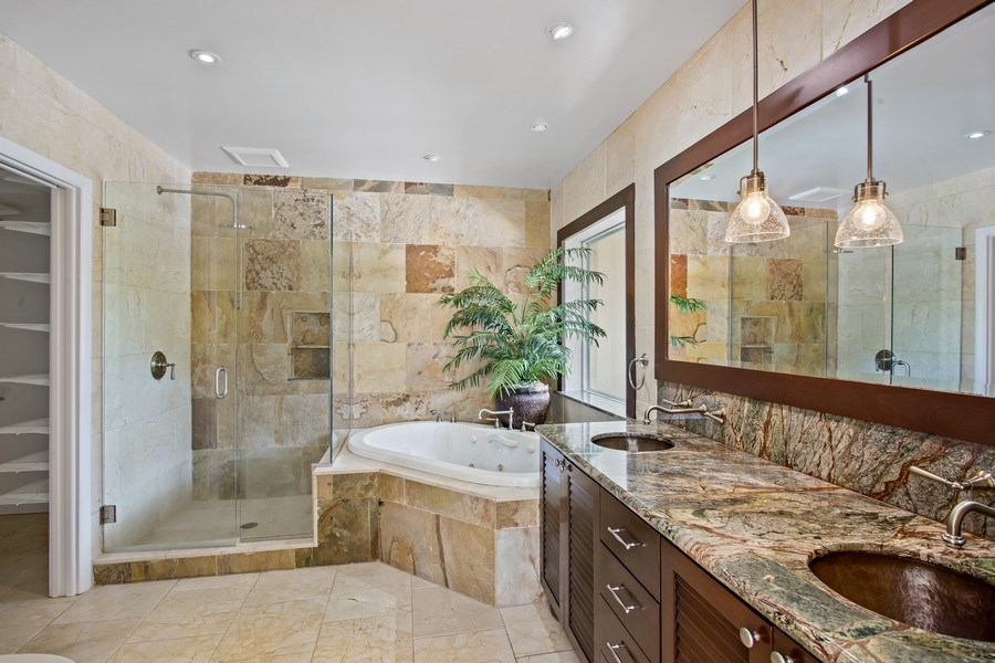 Real Estate Photography - 335 Pacific Rd., Key Biscayne, FL, 33149 - Master Bathroom