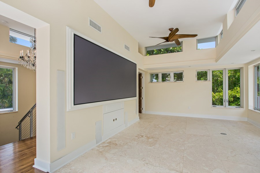 Real Estate Photography - 335 Pacific Rd., Key Biscayne, FL, 33149 - Media Room