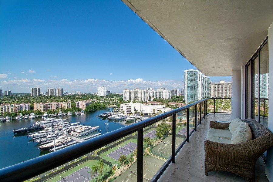 Real Estate Photography - 19667 Turnberry Way, Aventura, FL, 33180 - View