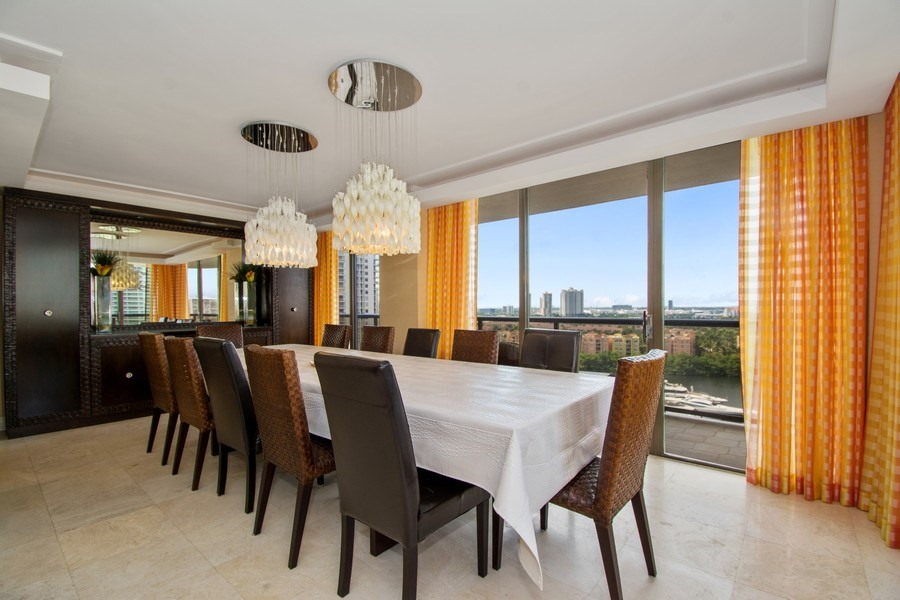 Real Estate Photography - 19667 Turnberry Way, Aventura, FL, 33180 - Dining Room