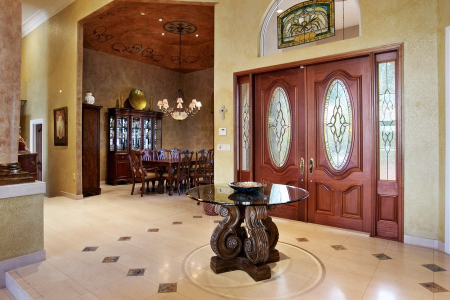 Real Estate Photography - 3460 Windmill Ranch Rd., Weston, FL, 33331 - Foyer/Dining Room