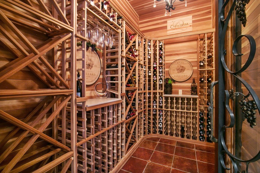 Real Estate Photography - 3460 Windmill Ranch Rd., Weston, FL, 33331 - Wine Cellar