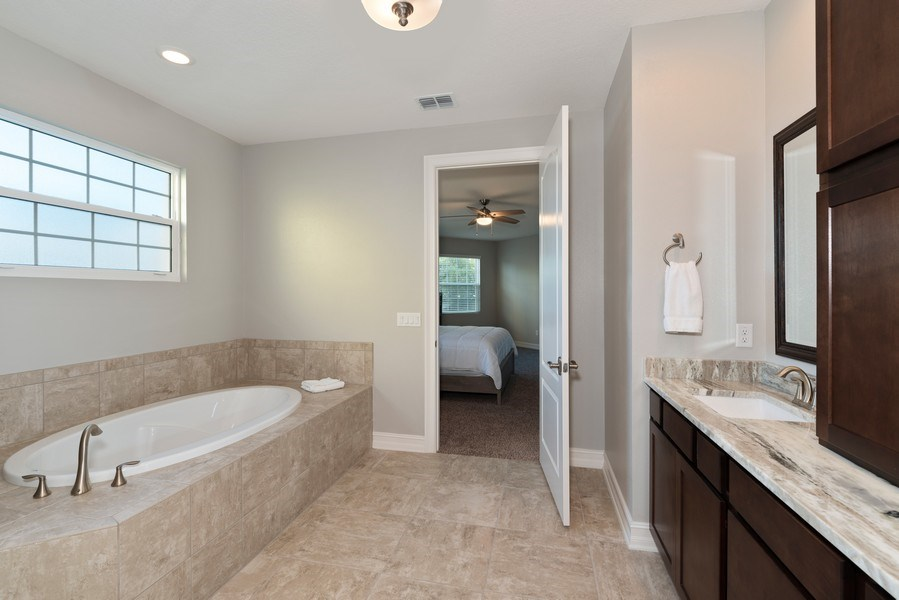 Real Estate Photography - 152 Mediterranean Way, Indian Harbour Beach, FL, 32937 - Master Bathroom