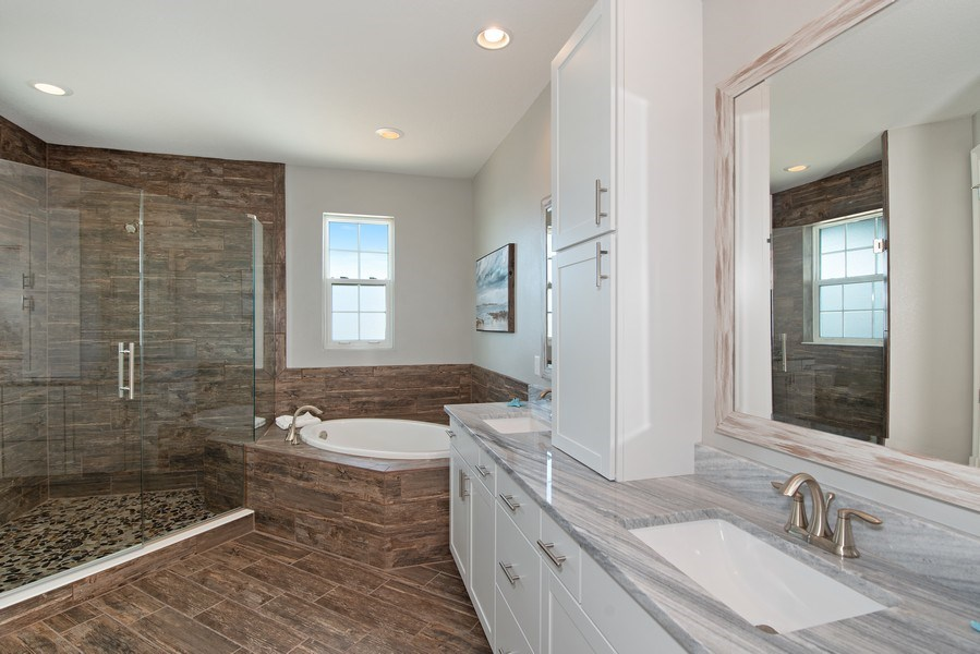 Real Estate Photography - 154 Mediterranean Way, Indian Harbour Beach, FL, 32937 - Master Bathroom