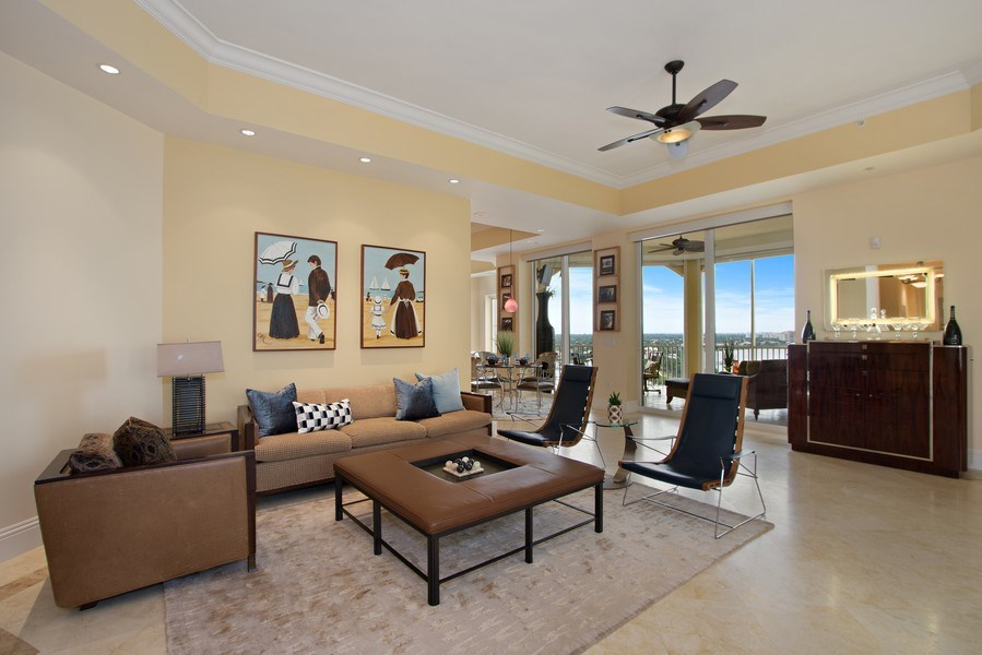 Real Estate Photography - 14270 Royal Harbour Ct., 1122, Fort Myers, FL, 33908 - Living Room