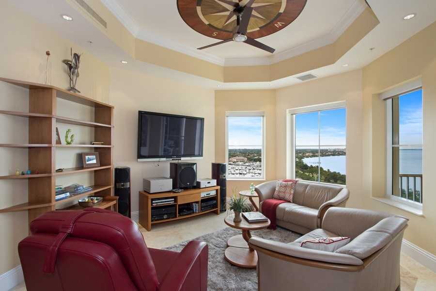 Real Estate Photography - 14270 Royal Harbour Ct., 1122, Fort Myers, FL, 33908 - Family Room