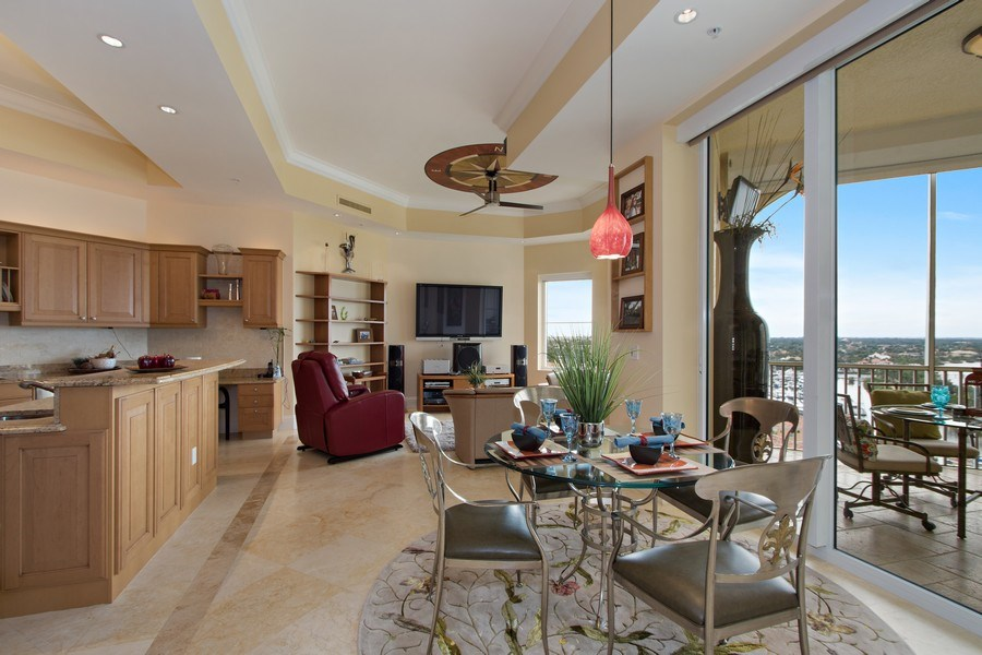 Real Estate Photography - 14270 Royal Harbour Ct., 1122, Fort Myers, FL, 33908 - Breakfast Area