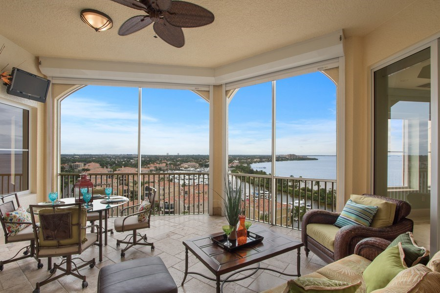 Real Estate Photography - 14270 Royal Harbour Ct., 1122, Fort Myers, FL, 33908 - Lanai