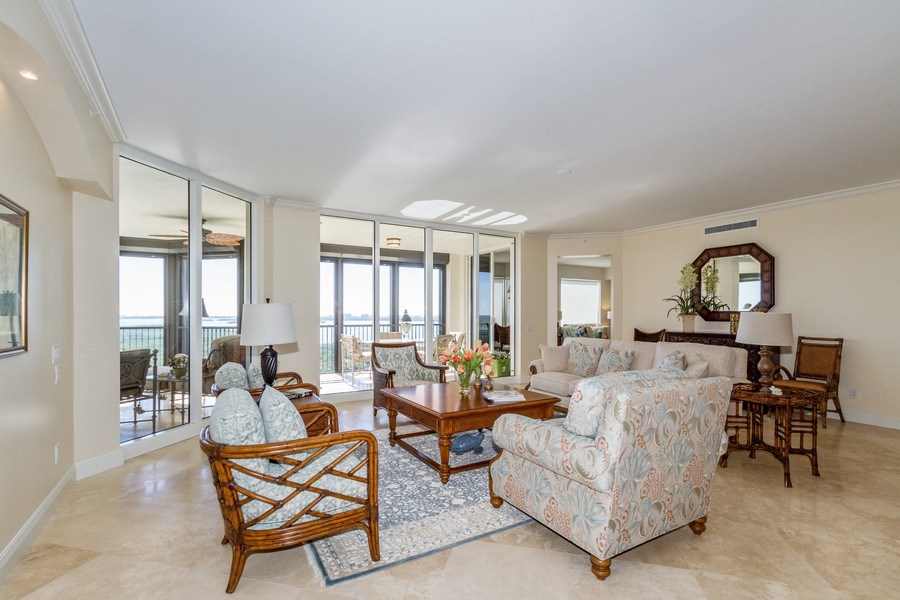 Real Estate Photography - 4875 Pelican Colony Blvd. #1401, Bonita Springs, FL, 34134 - Living Room