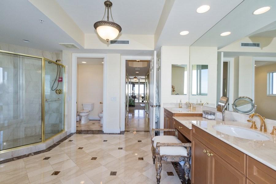 Real Estate Photography - 4875 Pelican Colony Blvd. #1401, Bonita Springs, FL, 34134 - Master Bathroom