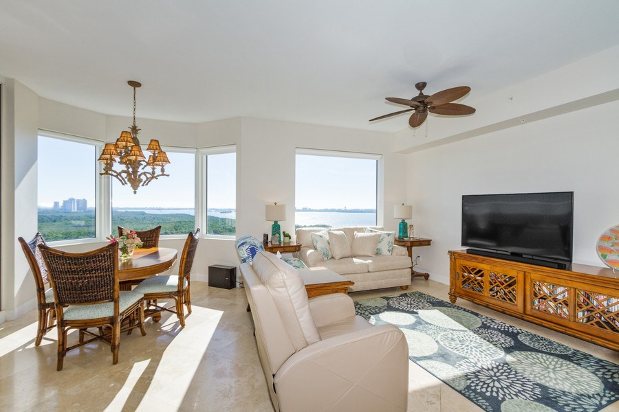 Real Estate Photography - 4875 Pelican Colony Blvd. #1401, Bonita Springs, FL, 34134 - Family Room