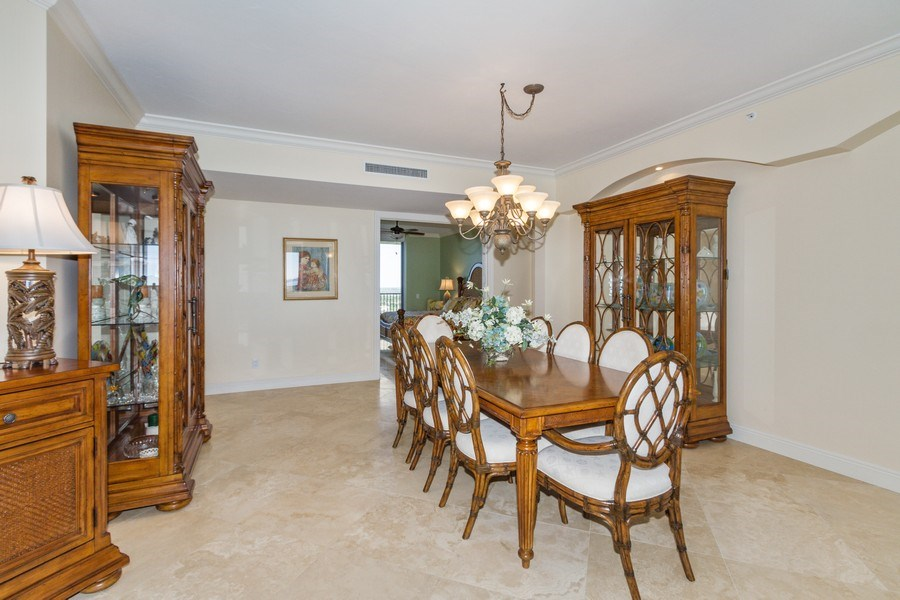 Real Estate Photography - 4875 Pelican Colony Blvd. #1401, Bonita Springs, FL, 34134 - Dining Room