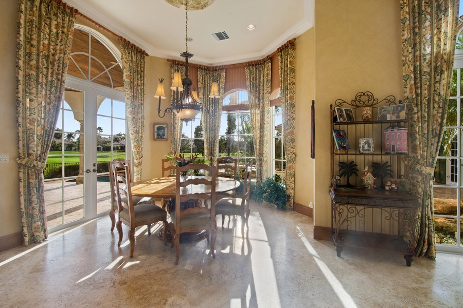 Real Estate Photography - 7582 Isla Verde Way, Delray Beach, FL, 33446 - Breakfast Room