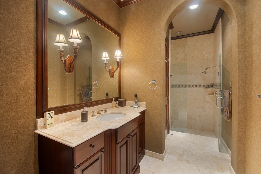 Real Estate Photography - 7582 Isla Verde Way, Delray Beach, FL, 33446 - 2nd Bathroom