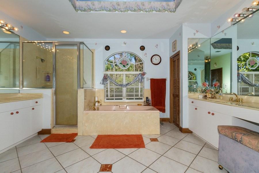 Real Estate Photography - 5180 Mahogany Ridge Drive, Naples, FL, 34119 - Master Bathroom