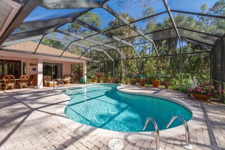 Real Estate Photography - 5180 Mahogany Ridge Drive, Naples, FL, 34119 - Pool