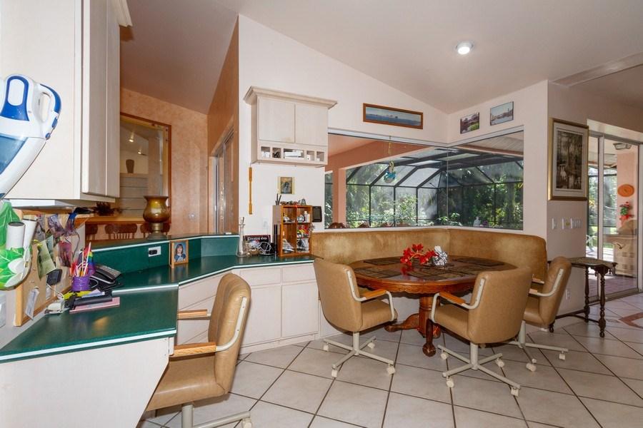Real Estate Photography - 5180 Mahogany Ridge Drive, Naples, FL, 34119 - Breakfast Nook