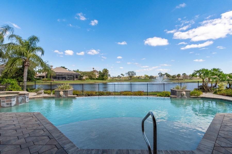 Real Estate Photography - 8700 Purslane, Naples, FL, 34109 - Pool