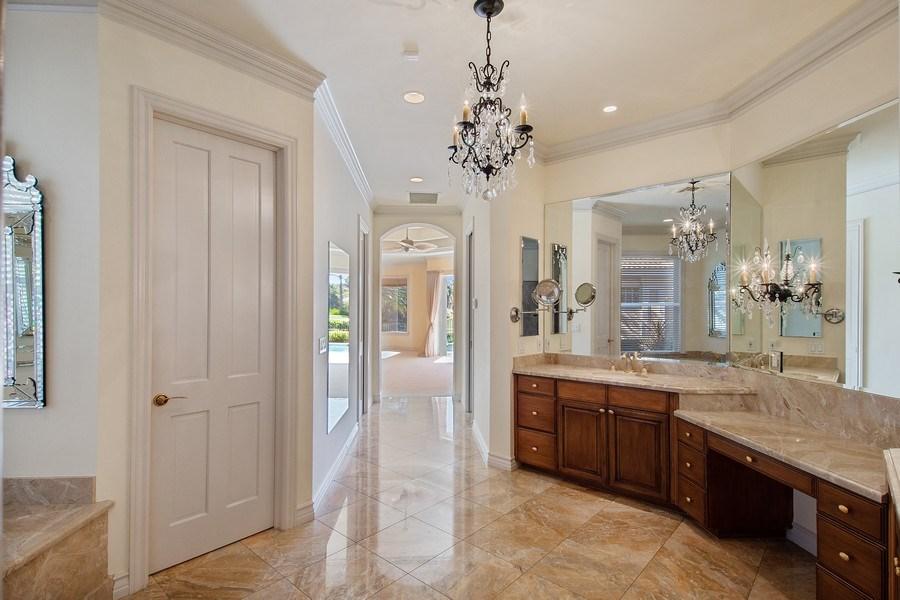 Real Estate Photography - 144 Cheshire Way, Naples, FL, 34110 - Master Bathroom