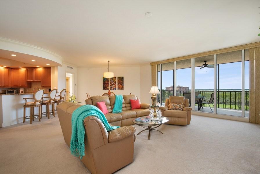 Real Estate Photography - 23850 Via Italia Cir, 502, Bonita Springs, FL, 34134 - Living Room