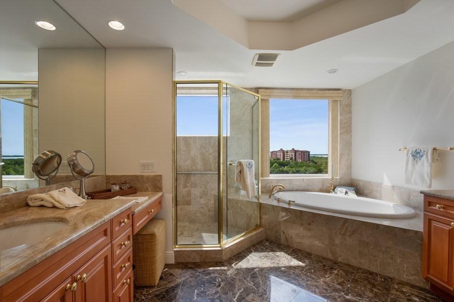 Real Estate Photography - 23850 Via Italia Cir, 502, Bonita Springs, FL, 34134 - Master Bathroom