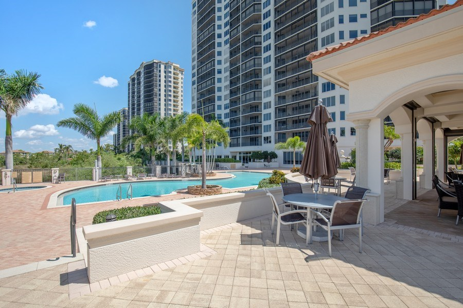 Real Estate Photography - 23850 Via Italia Cir, 502, Bonita Springs, FL, 34134 - Pool