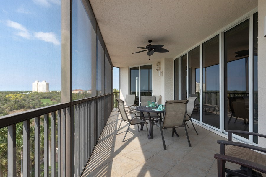 Real Estate Photography - 23850 Via Italia Cir, 502, Bonita Springs, FL, 34134 - Lanai