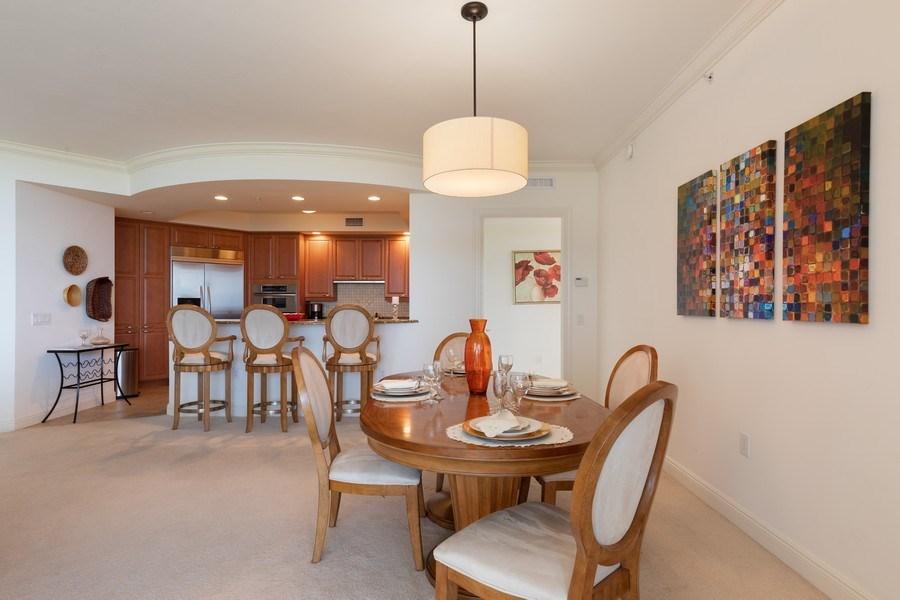 Real Estate Photography - 23850 Via Italia Cir, 502, Bonita Springs, FL, 34134 - Kitchen / Dining Room