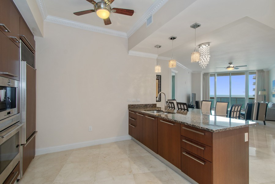 Real Estate Photography - 16001 Collins Ave., 2707, Sunny Isles Beach, FL, 33160 - Kitchen