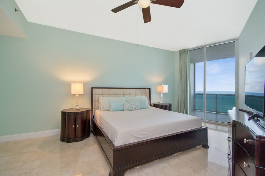 Real Estate Photography - 16001 Collins Ave., 2707, Sunny Isles Beach, FL, 33160 - Master Bedroom