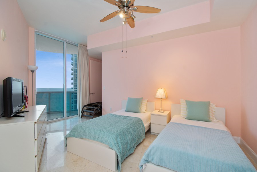 Real Estate Photography - 16001 Collins Ave., 2707, Sunny Isles Beach, FL, 33160 - Bedroom