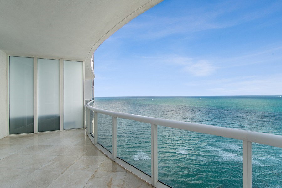 Real Estate Photography - 16001 Collins Ave., 2707, Sunny Isles Beach, FL, 33160 - Balcony