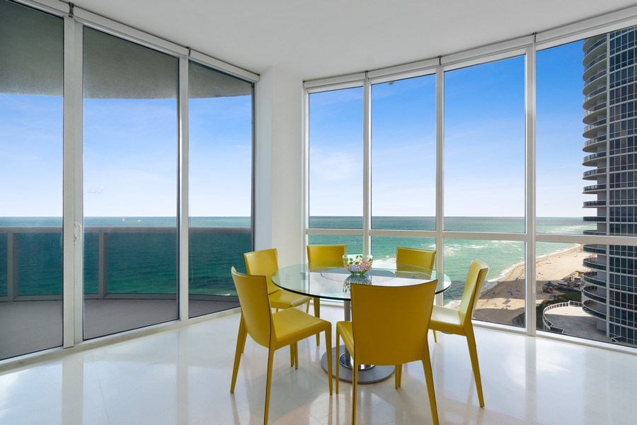 Real Estate Photography - 16001 Collins Ave., 1401, Sunny Isles Beach, FL, 33160 - Breakfast Room