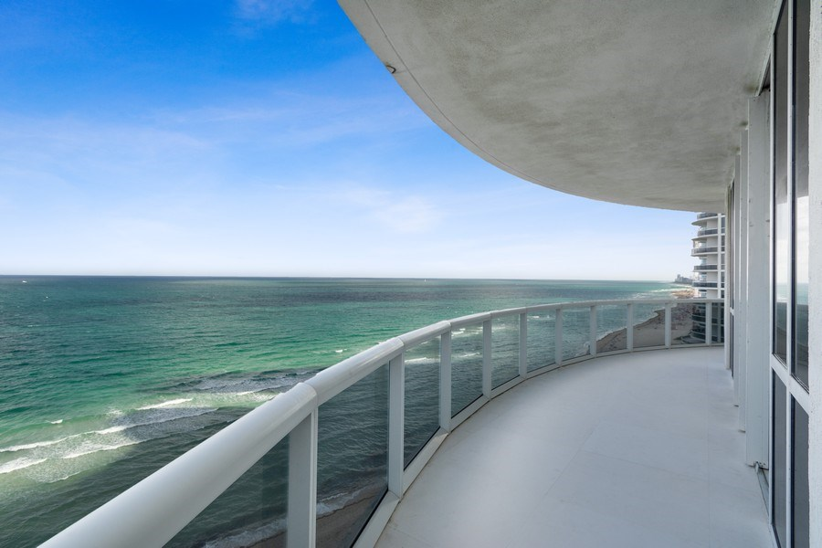 Real Estate Photography - 16001 Collins Ave., 1401, Sunny Isles Beach, FL, 33160 - Balcony