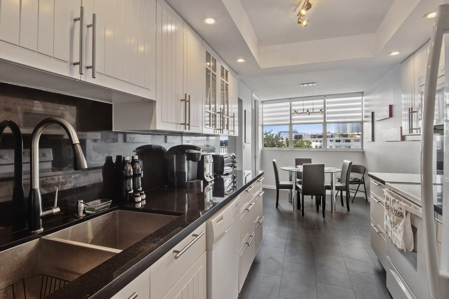 Real Estate Photography - 100 Golden Isles Drive #310, Hallandale Beach, FL, 33009 - Kitchen
