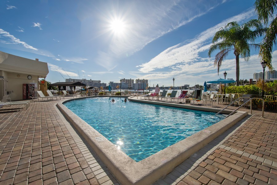 Real Estate Photography - 100 Golden Isles Drive #310, Hallandale Beach, FL, 33009 - Pool