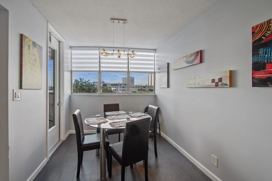 Real Estate Photography - 100 Golden Isles Drive #310, Hallandale Beach, FL, 33009 - Breakfast Room