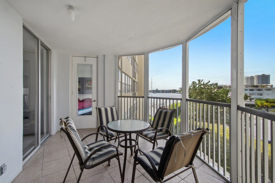 Real Estate Photography - 100 Golden Isles Drive #310, Hallandale Beach, FL, 33009 - Balcony