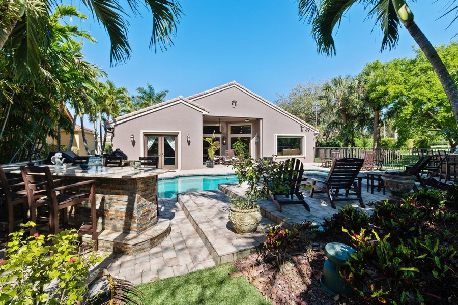 Real Estate Photography - 22472 Tiki Drive, Boca Raton, FL, 33428 - Rear View