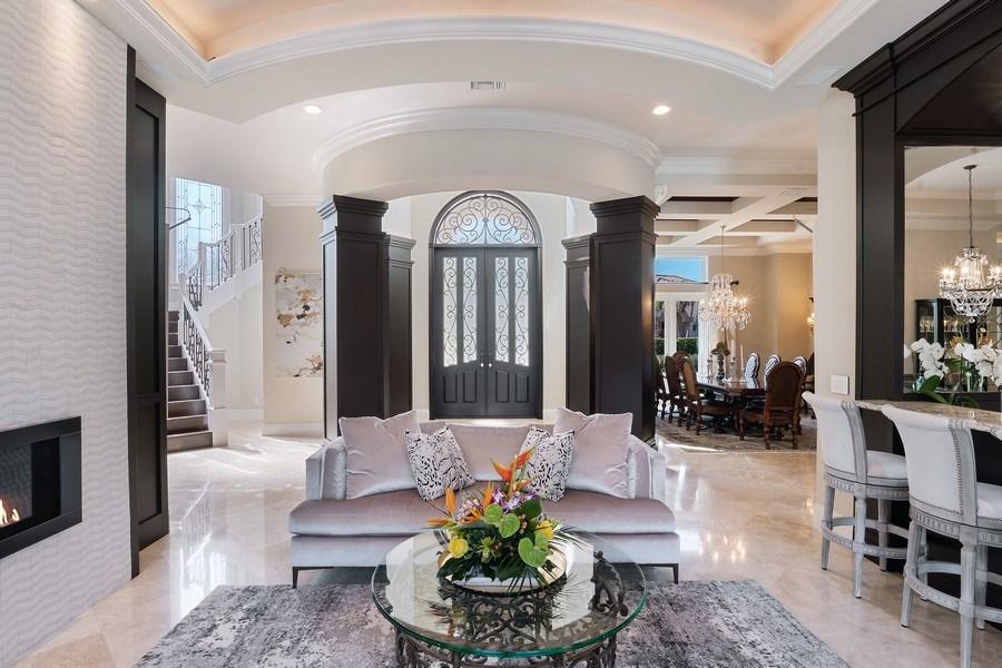 Real Estate Photography - 8732 Purslane Drive, Naples, FL, 34109 - Living Room