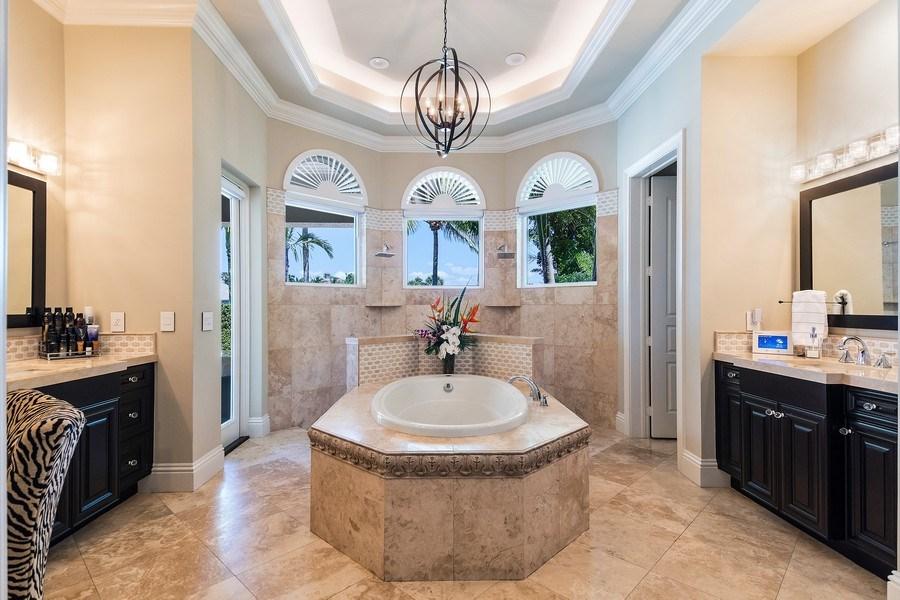Real Estate Photography - 8732 Purslane Drive, Naples, FL, 34109 - Master Bathroom