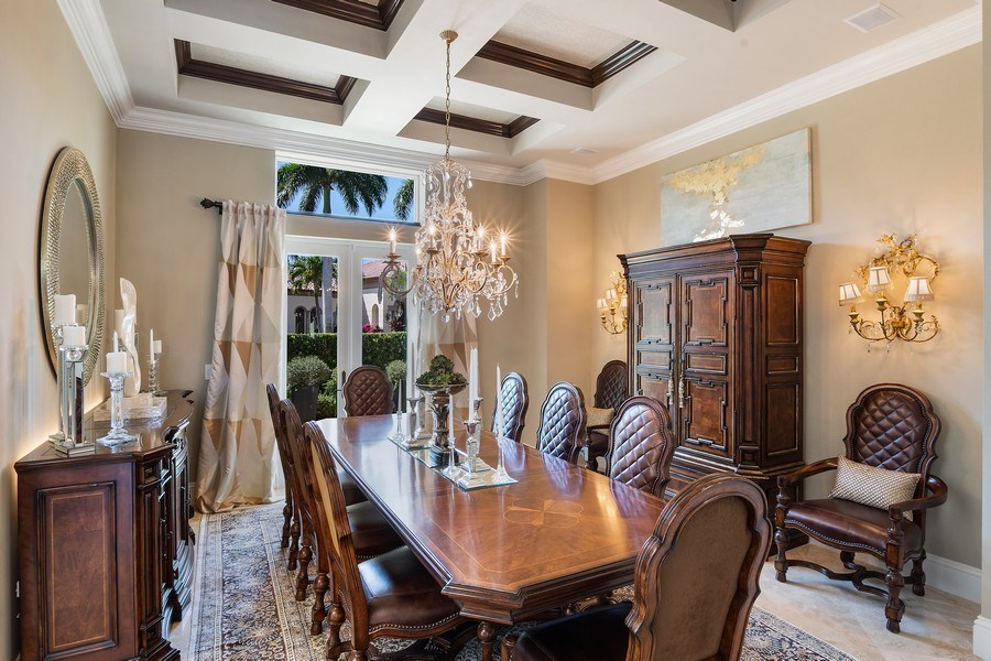 Real Estate Photography - 8732 Purslane Drive, Naples, FL, 34109 - Dining Room