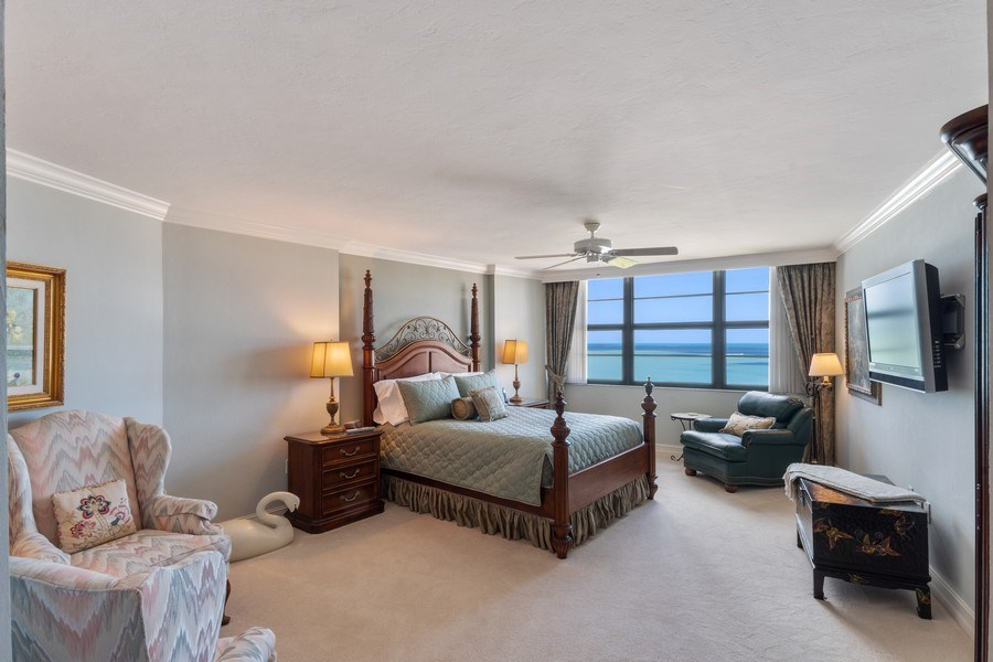 Real Estate Photography - 280 S. Collier Blvd., Summit House #1805, Marco Island, FL, 34145 - Master Bedroom