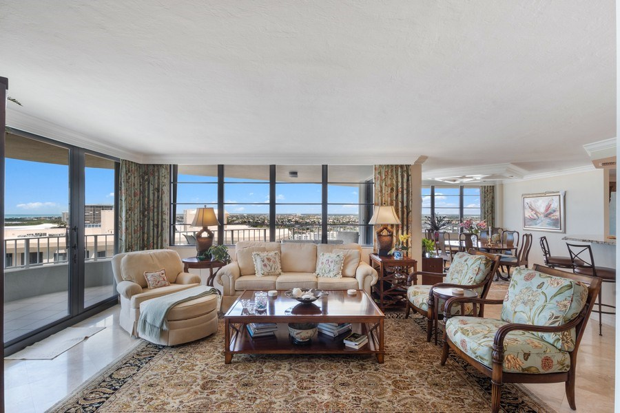 Real Estate Photography - 280 S. Collier Blvd., Summit House #1805, Marco Island, FL, 34145 - Living Room