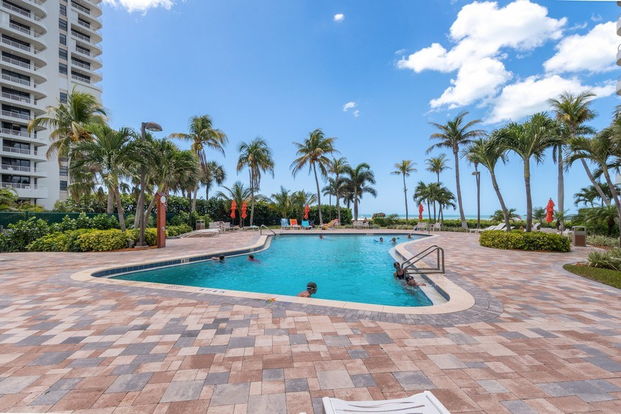 Real Estate Photography - 280 S. Collier Blvd., Summit House #1805, Marco Island, FL, 34145 - Pool